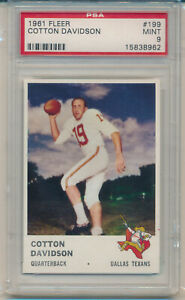 1961 Fleer Football Cotton Davidson (Rookie Card) (#199) PSA9 PSA