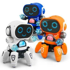 6-CLAWS ROBOT LED LIGHT MUSIC DANCING ELECTRIC ROBOT KIDS TOY XMAS UK SELLER