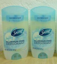 2 Secret DAYLILY Aluminum Free Deodorant Dye Free & Clear 2.4 oz