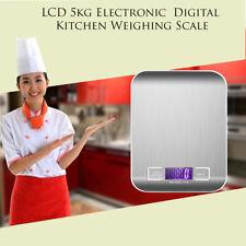 Acero Inoxidable Moderno 5kg Pantalla LCD Digital electrónica Cocina Balanza