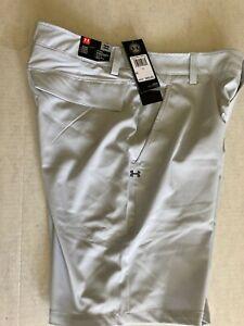 Under Armour Men's UA Storm Mantra Shorts Size 32 Gray/White 1327527 014