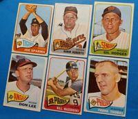 Vintage 1965 Old Topps Baseball 21-card HOF/Star Lot * Mazeroski #95 Roberts #15