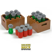 LEGO Drinks Crate + 6 Cokes / 12 Beers - ideal for beach party / pub bar scenes
