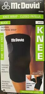 McDavid Closed Patella Knee Wrap A408 Thermal Neoprene Brace One size Fits all