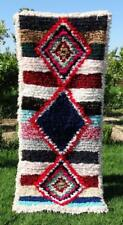 "Moroccan Handmade Rugs Azilal Rugs Berber Carpets Wool Rugs 6'1"" x 2'6"""