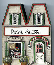 Brandywine Collectible Houses & Shops: PIZZA SHOP Restaurant - Shelf Sitter