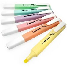 Stabilo Swing Cool Pastel Highlighter Marker Pens - 1-4mm - Set of 6 Colours
