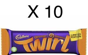 10 X 43g Bars Cadbury Twirl Orange Limited Edition Chocolate Bar Rare.......