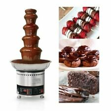110V Digital Display 5-tiers Chocolate Fountain Fondue Machine Stainless Steel
