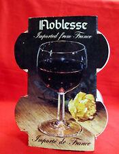 VINTAGE NOBLESSE SET OF 4 WINE GLASSES BRAND NEW ORIGINAL BOX FRANCE 4 1/2 OZ