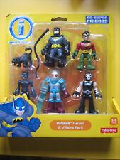 Imaginext héroes y villanos Pack Batman Robin Gato Catwoman Bane señor congelar NUEVO