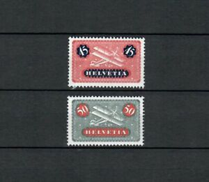 SWITZERLAND EUROPE  AIRPLANE AVIATION  MH  STAMPS  ( HELV 35)