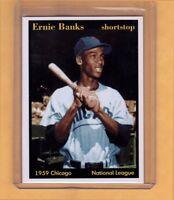 ERNIE BANKS '59 MVP CHICAGO CUBS SHORTSTOP HALL OF FAMER SUPERIOR CARD CO.