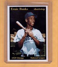 1959 Ernie Banks MVP Chicago Cubs shortstop Hall Of Famer Superior Card Co.