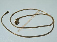 Chaine Collier Ras de Cou Souple 40 cm Maille Serpentine Doré Acier Inox 1.2 mm