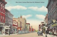 Richmond, INDIANA - Main Street - 1940 - old cars, store signs