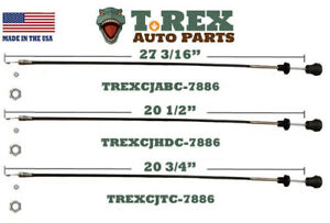 1978-1986 Jeep CJ 3 Pack Combo Temp./Heater/Air Box Control Cable Set