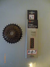 1 new ventura - fold 5 speed cogset and one fitting point chain SL-260