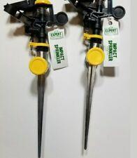 Lot of 2 Rotating Impact Sprinkler Male Female  Hose Connectors Metal Spike
