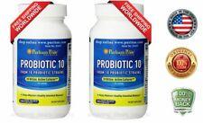 Puritans Pride Probiotic 10 (20 Billion Active Cultures) 120 capsules 2 PACK