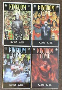 Kingdom Come #1,2,3,4 DC Comics Mark Waid Alex Ross Set 1996