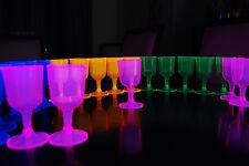 Neon Assorted Blacklight Reactive Wine Glasses - 20 ct