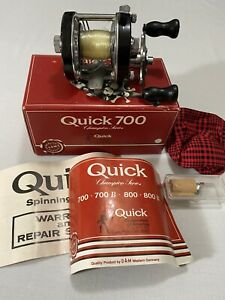Vintage DAM Quick 700 Reel With Original Box - Made In Western Germany