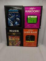ATARI 2600 Lot Of Games: ASTEROIDS KABOOM MASH AND LASER BLAST  CARTRIDGES ONLY