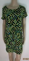 NEW GREEN/BLACK CHECK SHIFT DRESS/TUNIC SIZE 12