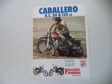 advertising Pubblicità 1975 MOTO FANTIC CABALLERO RC 50 e RC 125
