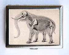 Animal Anatomy Elephant Skeleton Cigarette Case Wallet Business Card Holder