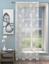 PAPILLON DENTELLE BLANCHE FILET 142X229cm 142X229 CM SIMPLE panneau rideau drapé