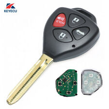 Replacement Remote Car Key Fob 4 Button 434MHz 4D67 for Toyota Camry 2003-2011