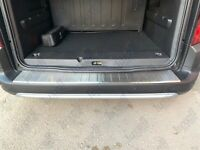 2018Up Vauxhall Opel Combo E Chrome Rear Bumper Protector Scratch Guard S.Steel