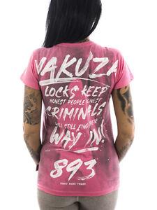 Yakuza T-Shirt Lock Up 13125 camellia rose Frauen T-Shirt Sport Freizeit gR S