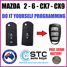 MAZDA 2 6 CX7 CX9 CX 7 CX 9 REMOTE KEY LESS ENTRY FOB  2007 - 2015 free battery
