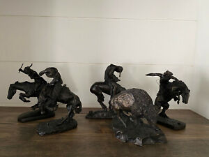 New England Collectors Society Lot of 5 Sculptures Remington Fraser