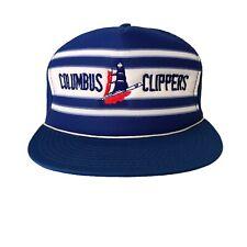 Vintage Columbus Clippers Snapback Trucker Hat Minor League