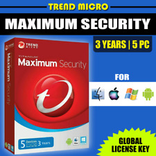 Trend Micro Maximum Security 2020 Version (5 Devices - 3 Years) Windows Mac iOS