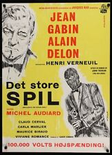 ANY NUMBER CAN WIN MELODIE EN SOUS SOL Danish movie poster ALAIN DELON GABIN