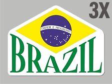3 Brazil Brazilian shapes sticker flag decal bumper car bike Sticker vinyl CN004