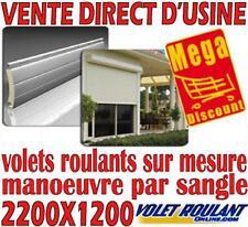 VOLET ROULANT PVC A SANGLE H 2200 X L1200