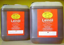 Leinöl 2 x 5 Liter -garantierte, erste,Kaltpressung- immer frisch-  Pferd, Hund