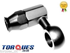 AN -6 (6AN AN6) Weber / Dellorto Carburettor Teflon Single Hose End Banjo Black