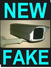 4 Fake Metal Outdoor Dummy Cctv Spy Cam Security Camera's Theft Deterrent+Sign's