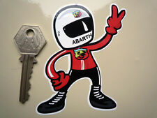 ABARTH DRIVER 2 fingered 'salute' car STICKER Race Rally FIAT 500 ZAGATO etc