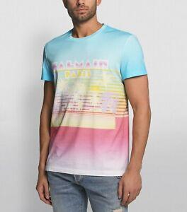 BALMAIN SS2020 neon palm tree logo t-shirt authentic - Size Medium - NWT