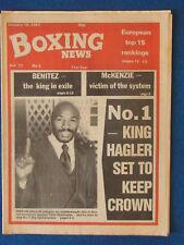 Boxing News Magazine - 16/1/81 - Marvin Hagler Cover