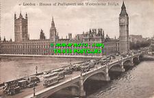 R553461 London. Houses of Parliament and Westminster Bridge. 1929