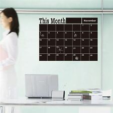Chalk Decor Monthly Wall Sticker Month Plan Calendar Blackboard
